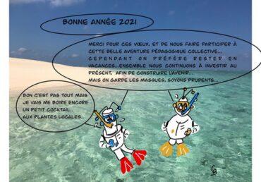 les mascottes vous souhaitent une bonne année 2021